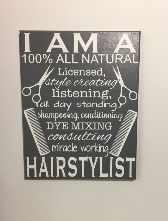Painted canvas sign  gifts for hairstylist  by SunShineWallArt