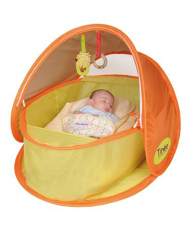 This Orange Pop-Up Sun Shelter Tent by Tinéo is perfect! #zulilyfinds