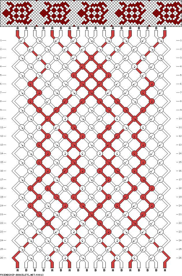 BRACELET - KUMIHIMO DISK - friendship-bracelets.net - PATTERN - 18 st