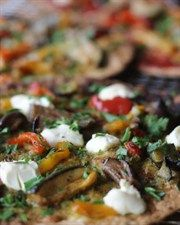 Chargrilled Vegetable Pizza - and another little pizza to the collection. If your anything like me you know it can be frustrating to have the leftovers of stuff when you buy it in a pre set amount and the last thing you want is to have to eat the same thing again.  This kind of helps take care of other uses for some of those ingredients from the baked Italian chicken recipe, the tomato paste from the other pizza (if you buy it in a tin)  and it's really quite tasty and quick.