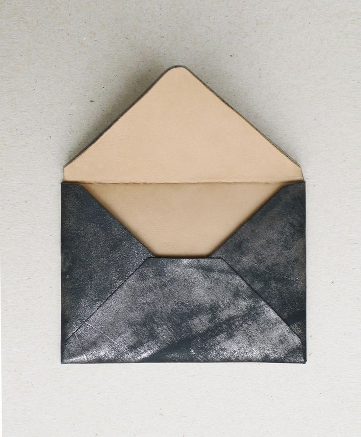 envelope.: Homemade Envelopes, Leather Envelopes, Flower Shops, Cards Holders, Cars Accessories, Envelopes Design, Bags, Black, Envelopes Clutches