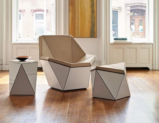 The Prism lounge chair by David Adjaye uses geometry and pattern to define form | Knoll