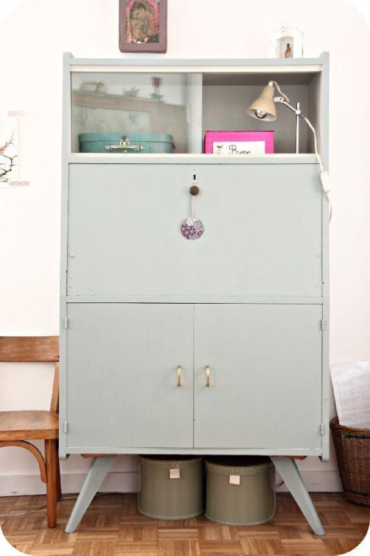 les 22 meilleures images propos de meuble secr taire relook sur pinterest gris recherche. Black Bedroom Furniture Sets. Home Design Ideas