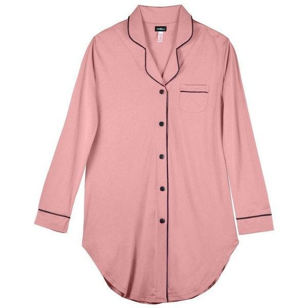 Cosabella Bella Plus Nightshirt ($123) ❤ liked on Polyvore featuring plus size women's fashion, plus size clothing, plus size intimates, plus size sleepwear, plus size nightgowns, intimates, pink, sleepwear, night shirt and long sleeve nightdress