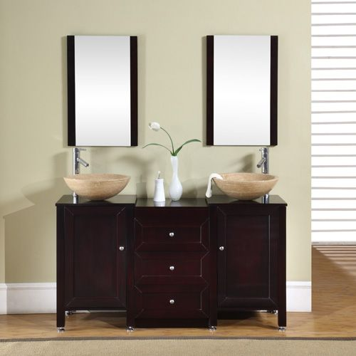 Website With Photo Gallery Full Product Name Inch Double Sink Vanity Cabinet Wood Door Left Included Mirror u BowlManufacturer us Model brand Silkroad ExclusiveSilkroad