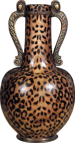 Large Leopard Print Vase