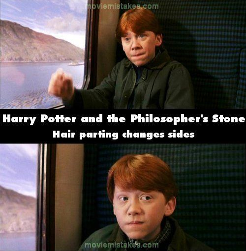 Ron's Hair - Top 15 biggest Harry Potter film mistakes
