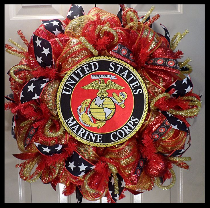 Best 25+ Military Wreath Ideas On Pinterest
