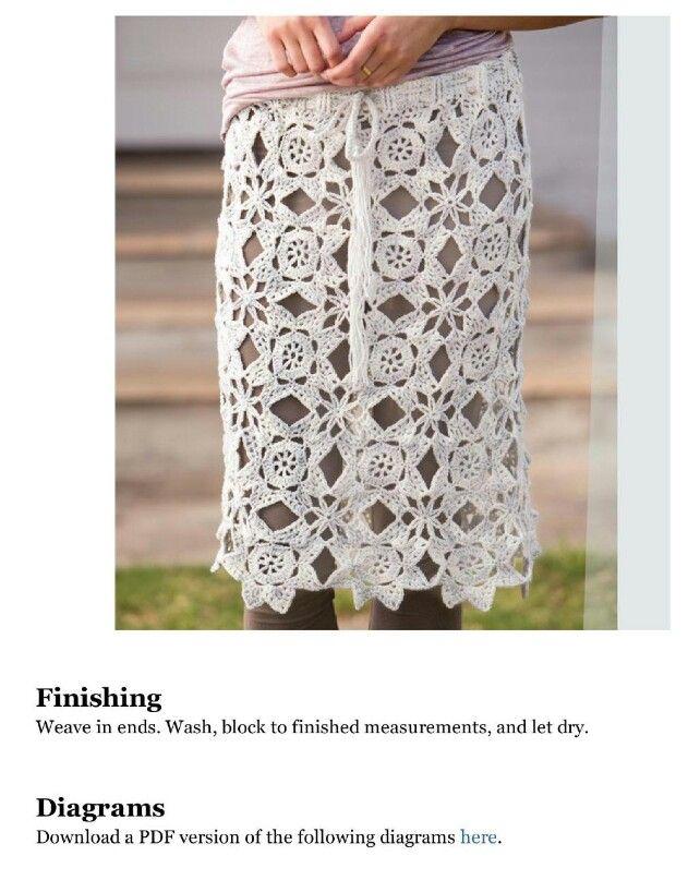 139 besten crochet skirt Bilder auf Pinterest | Röcke, Kleidung ...