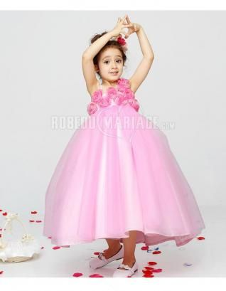 Fleur bretelle magnifique robe cortège enfant organza [#ROBE208703] - robedumariage.com
