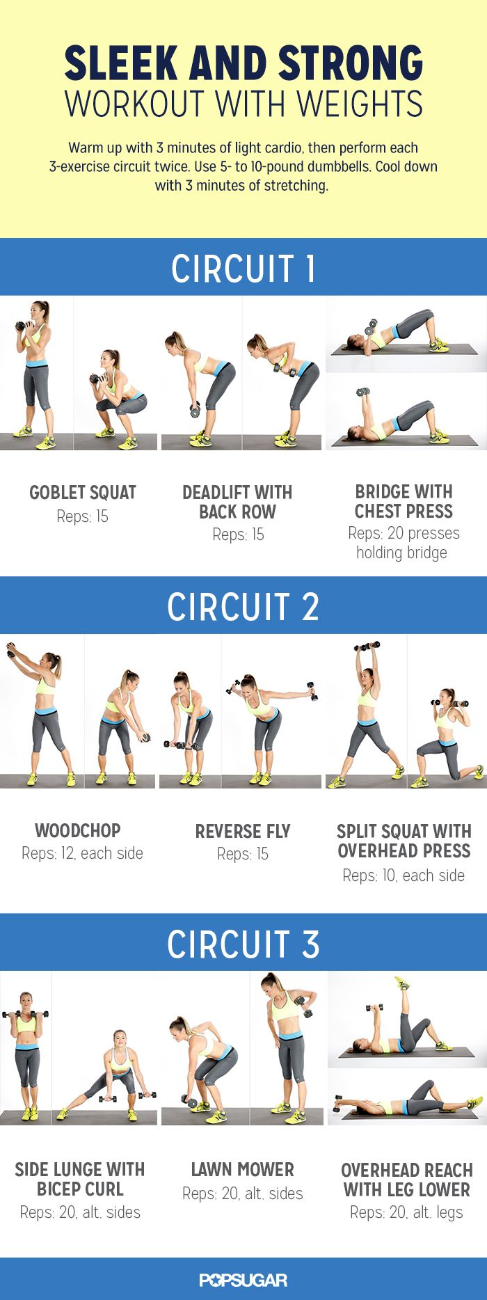 The circuit workout you need to get strong, sleek, and toned. Print this out and do it while watching TV!