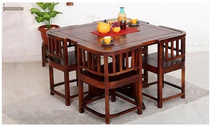 Dining Furniture Buy Dining Room Furniture Online Upto 55 Off Woodenstreet Dinning Ta In 2020 Dining Room Small Space Saving Dining Table Small Dining Room Table