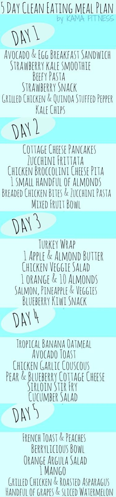 One Month Clean Eating Meal Plan & Healthy Grocery List {Week 1}