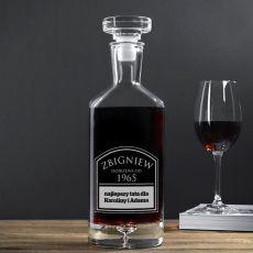 Grawerowana karafka do wina DOSKONAŁY ROCZNIK idealny na urodziny
