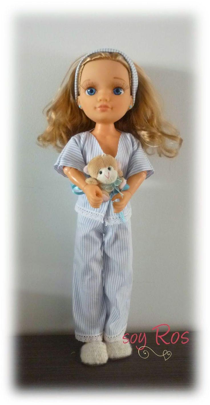 soy Ros. Pijama para muñeca Nancy New y clásica reciclando camisas