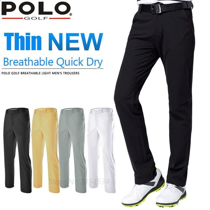 Golf Pants - Brand GOLF New Mens Golf Pant Sportwear Tennis Thin Trouser High Elastic Breathable Quick Dry Golf Clothes Leisure Trouser