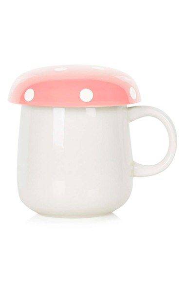 Crushing on this adorable mug with a retro mushroom top for a fun addition to the home.