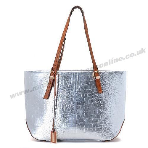 Michael Kors Snakeskin Should Bag Silver