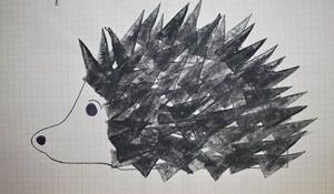 ježek - šablona