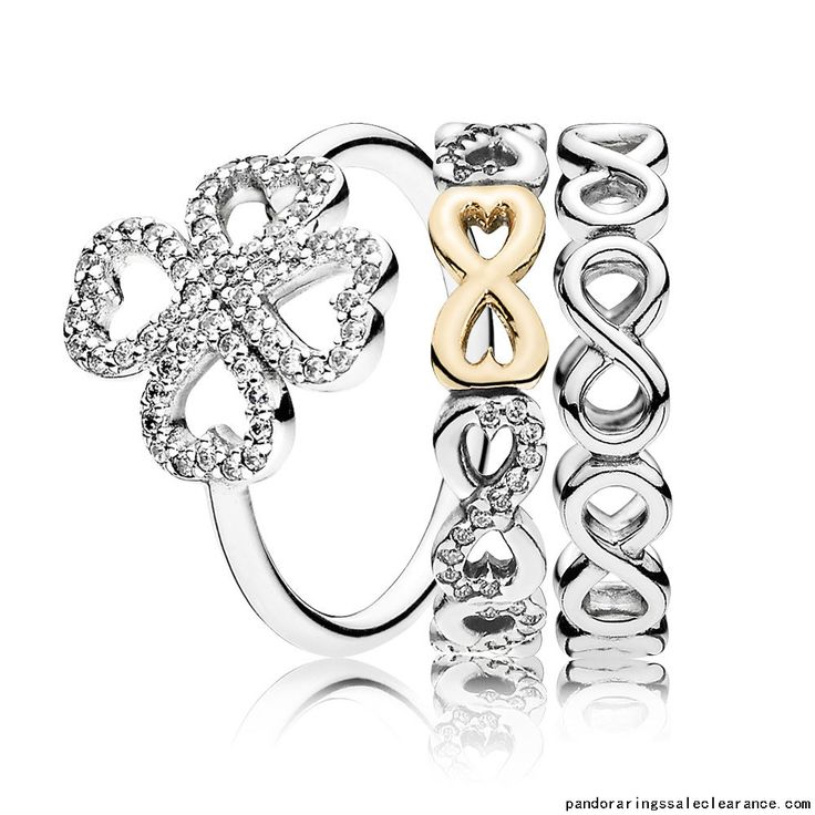 fb29dd361 Pandora rings sale clearance Forever in Love Ring Stack, pandora stacking  rings sale together, ...