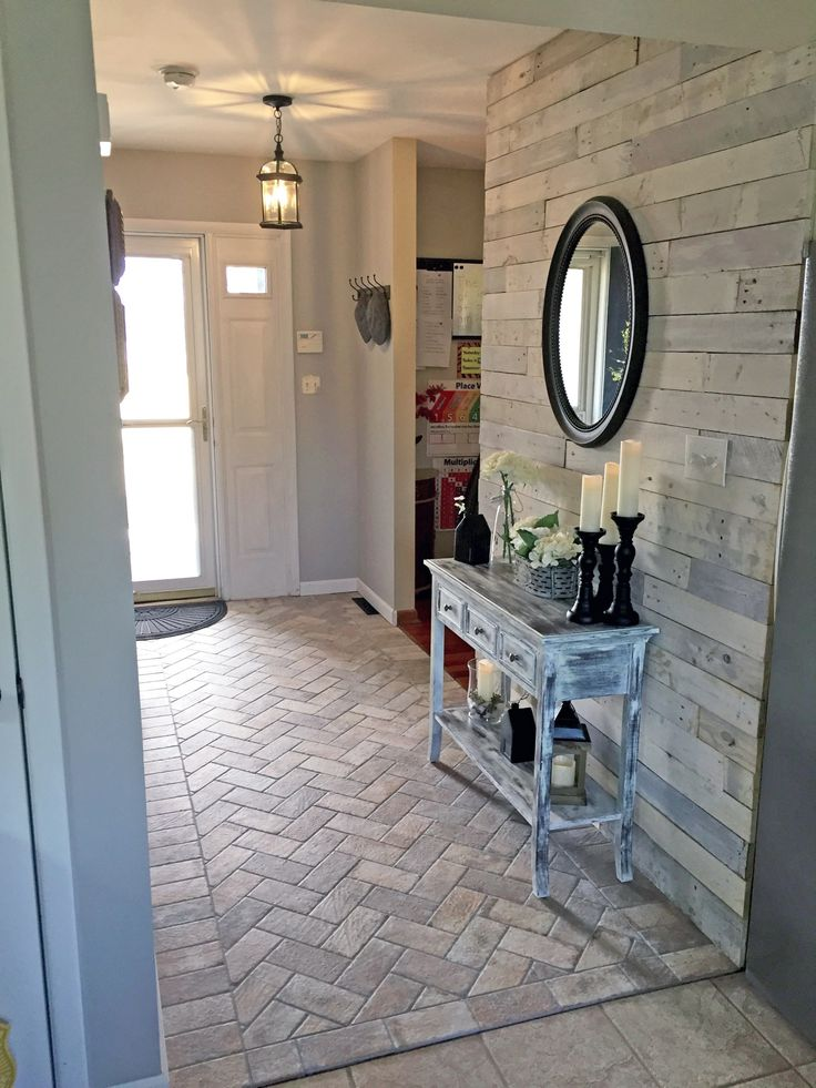 Foyer Accent Floor Chicago South Side Porcelain Brick