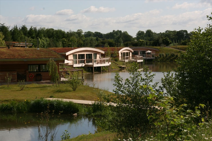 Our contemporary lodges set around two lakes