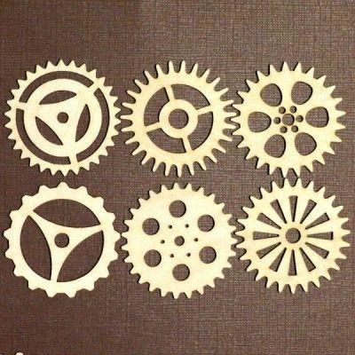 Steampunk Gears | stencils | Steampunk gears, Steampunk ...