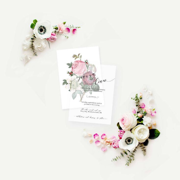 Get the vintage floral wedding invitations of your dreams (and $200 worth of FREE bonuses and gifts!!). The vellum invitations adds a soft and romantic feel to your blush floral invitations. This rose invitation suite will swoon your family and friends, giving them a taste of your romantic wedding.