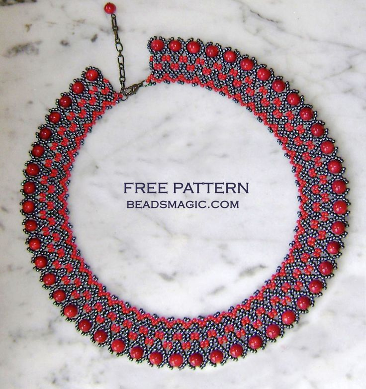 Free pattern for beaded necklace Montale photo by Nadia1 U need: seed beads 11/0 round