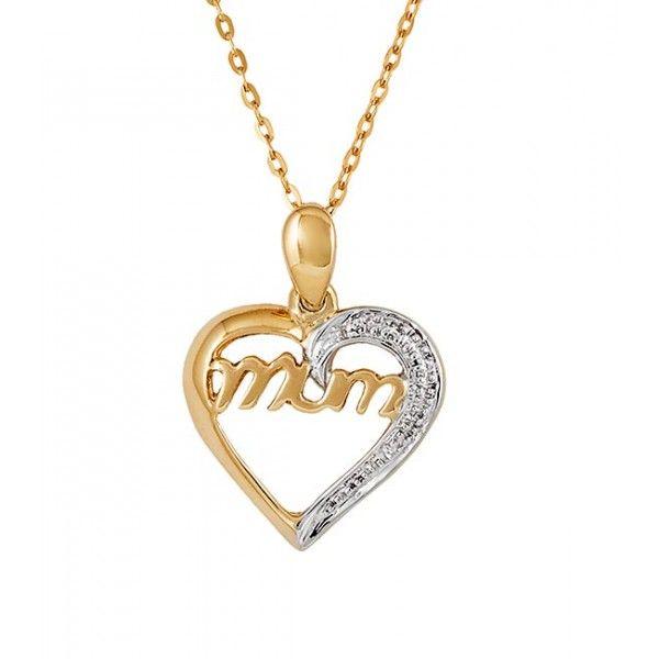 Diamond Heart Pendant  - 9ct Gold - 5 Year Guarantee - Free Shipping