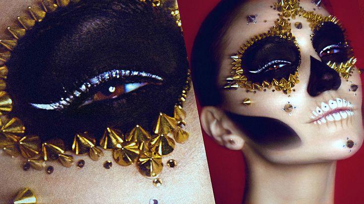 Studded Sugar Skull Makeup Tutorial!