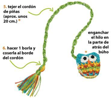 Cómo tejer un búho marcador de libros a crochet (crochet bookmark owl tutorial)