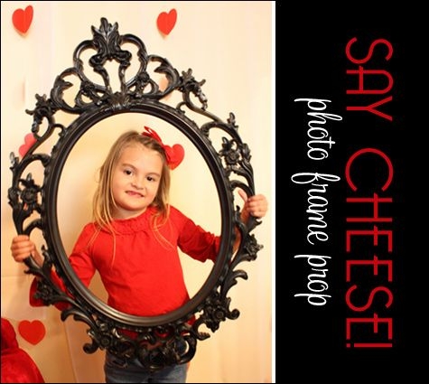 Great idea for photo prop. And easy. Maybe in red or white instead of black :-)
