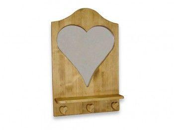 Věšákový panel se zrcadlem ze smrkového dřeva Mexicana 1