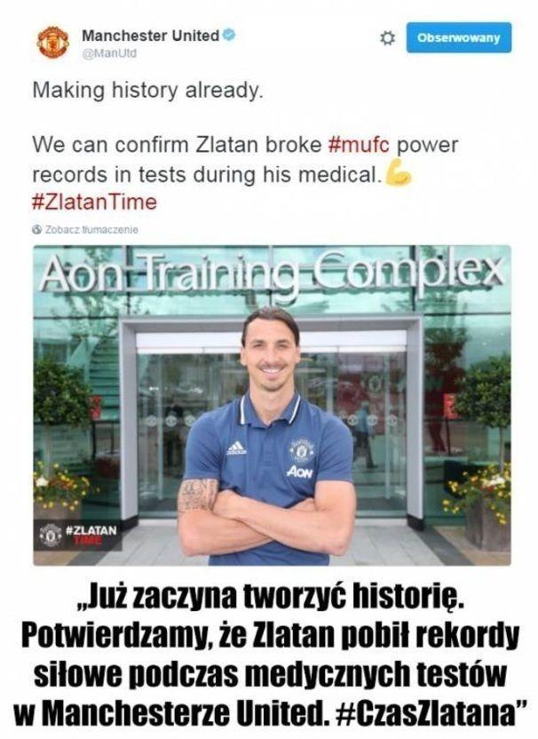 Zlatan pobił rekordy siłowe podczas testów medycznych • Zlatan Ibrahimovic już…