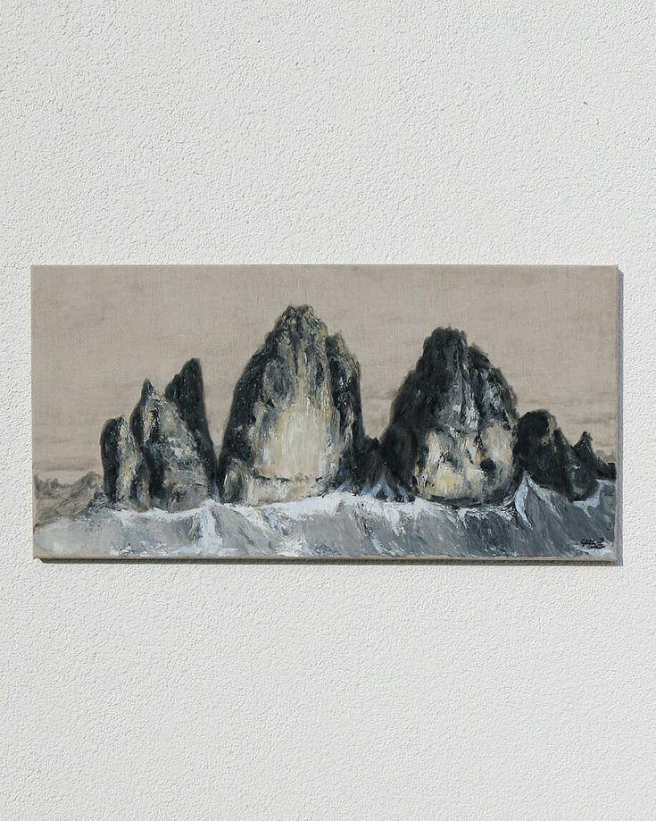 Drei Zinnen – Günter Leiter – Ölgemälde