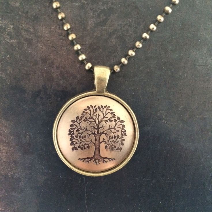 Tree of Life:etched brass in a brass bezel www.etsy.com/shop/parakeetmoon