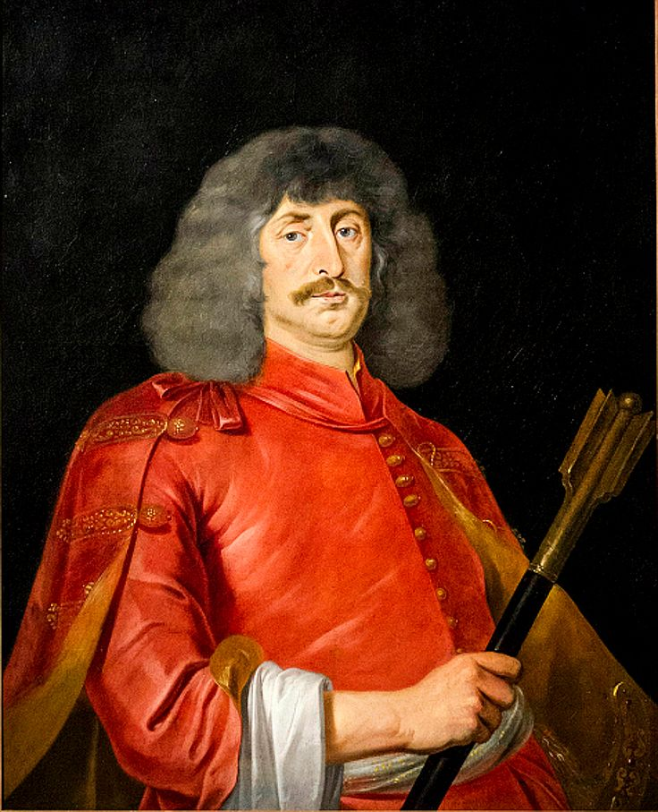 MIKLÓS ZRÍNYI or Nikola Zrinski (05.01.1620. -  18.11.1664.) was a Hungarian and Croatian military leader, statesman and poet. He was a member of a noble family. He is the author of the first epic poem in Hungarian literature  (Szigeti veszedelem = Peril of Sziget)