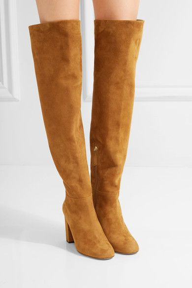 Aquazzura | London suede over-the-knee boots | NET-A-PORTER.COM
