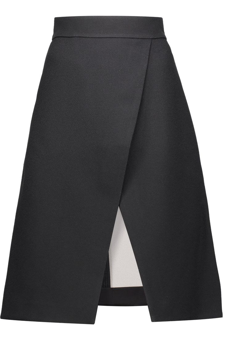 TIBI Wrap-Effect Crepe Skirt. #tibi #cloth #skirt