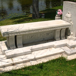Grave Marker- Tyrone Power, actor, buried at Hollywood Forever Cemetery