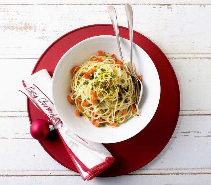 Auch Spaghettini sind für den grossen kulinarischen Auftritt geeignet. Zum Beispiel wenn sie mit Pfeffer und Rauchlachs serviert werden.