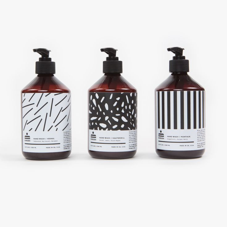 Capital A patterned hand wash packaging PD  http://www.pourlair.com/