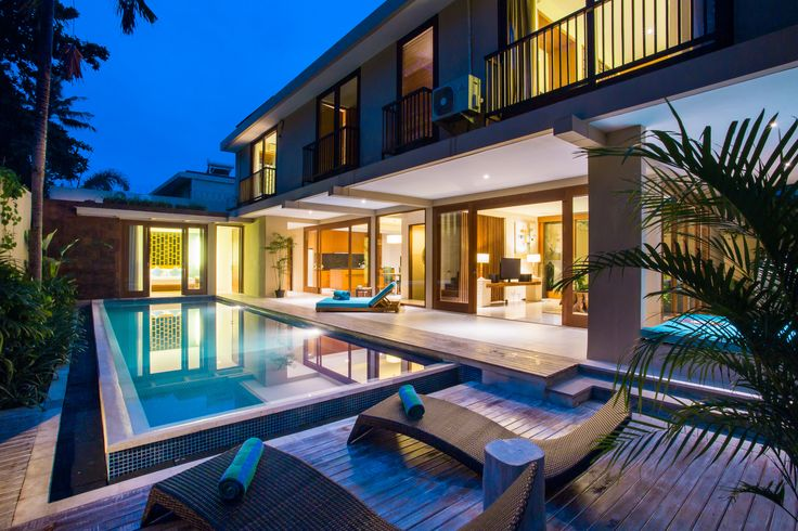 A private pool villas within a lush landscape, designed with total privacy in mind and is encompassed within a contemporary Balinese compound  #villas #bali #holiday #relax #seminyak  #tropical #summer