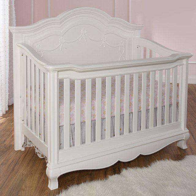 Baby Cache Adelina 4 In 1 Convertible Crib Pure White Cribs Girl Nursery Bedding Baby Nursery Bedding White 4 in 1 cribs
