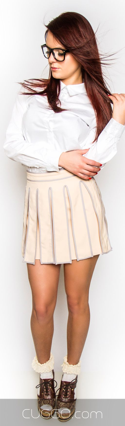 Shop this Blush Kilt Mini Skirt on cuggo.com http://www.womenswatchhouse.com/