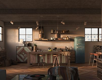 "Check out new work on my @Behance portfolio: ""Industrial Kitchen""…"