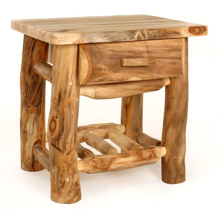 Log furniture | log furniture - nightstands | Building a Dream Home | Pinterest