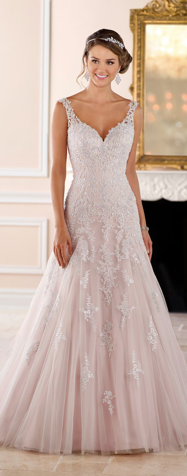 242 best wedding dresses images on Pinterest | Gown wedding, Wedding ...