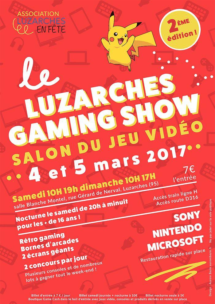 Convention 4 et 5 mars Luzarches Gaming Show - Comme l'an dernier hormis toutes les consoles nouvelles génération nous retrouverons aussi les spécialistes du Rétro Gaming avec MO5 ainsi que Coin-op Legacy avec de nombreuses bornes d'arcades.